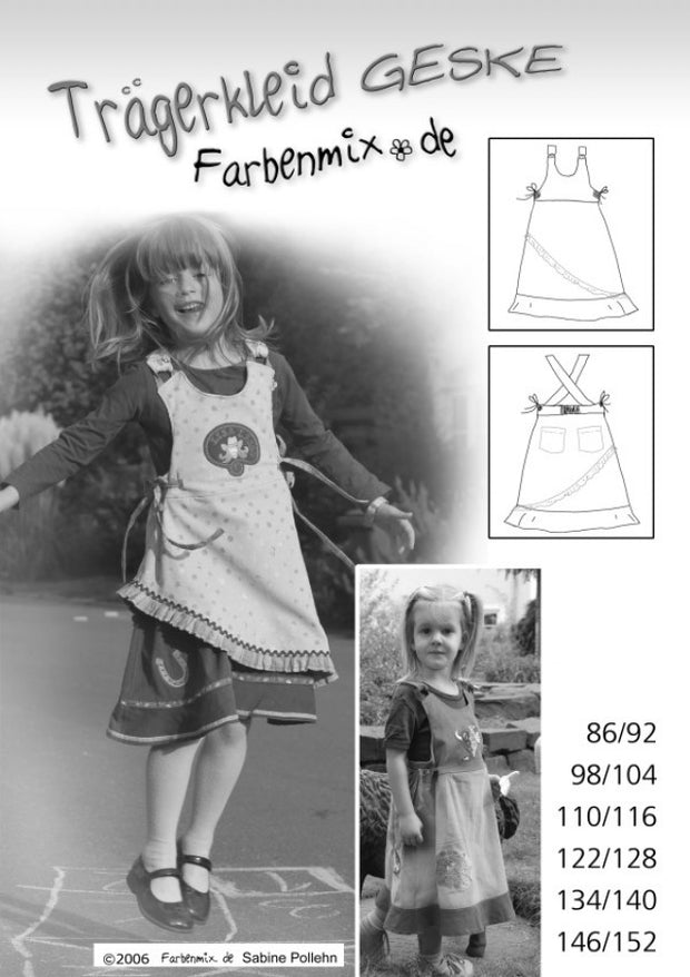 Geske Jumper Dress Sewing Pattern by Farbenmix