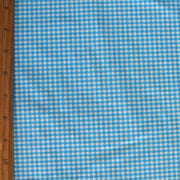 Blue Gingham Nylon Lycra Swimsuit Fabric