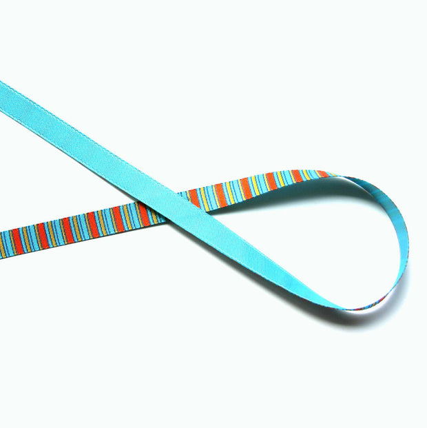 Giraffes Stripe Reversible Woven Ribbon Trim