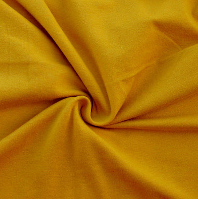 Mustard 10 oz. Cotton Lycra Jersey Knit Fabric