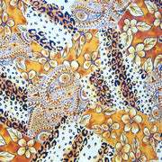 Golden Patchwork Print Nylon Spandex Swimsuit Fabric