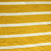 Goldenrod and Heathered Grey Stripe Bamboo Lycra Knit Fabric