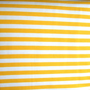 "Goldenrod and White 3/8"" wide Stripe Cotton Lycra Knit Fabric"