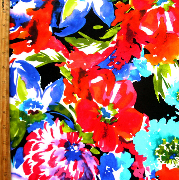 Gorgeous Floral Nylon Lycra Swimsuit Fabric