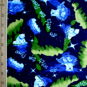 "Go with the Flow Cotton Knit Fabric - 27"" Remnant Piece"