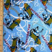 Graffiti Skateboarder Cotton Lycra Knit Fabric