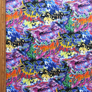 Graffiti Nylon Spandex Swimsuit Fabric