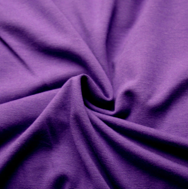 Grape Purple Bamboo Cotton Lycra Jersey Knit Fabric
