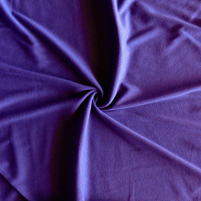 Grape Purple Cotton Rib Knit Fabric
