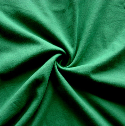 Grass Green Cotton Tubular Jersey Knit Fabric