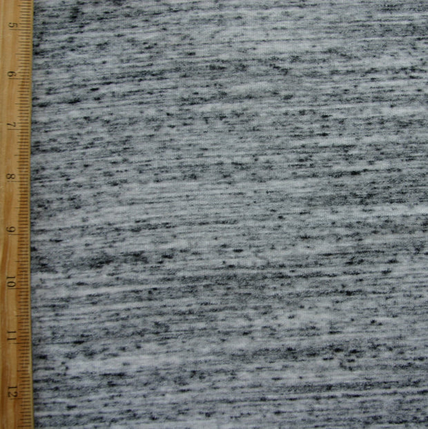 Grey Marble Poly Rib Knit Fabric