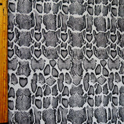 Grey Python Nylon Spandex Swimsuit Fabric