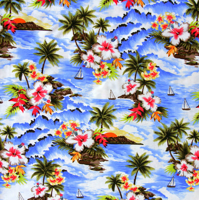 Hawaiian Paradise Nylon Lycra Swimsuit Fabric