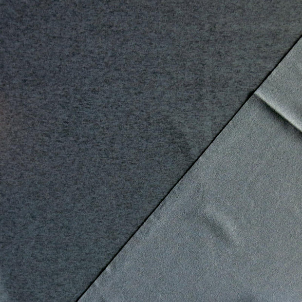 Heathered Charcoal Brushed Poly Lycra Jersey Knit Fabric
