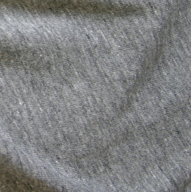 Heathered Charcoal Tri Blend Jersey Knit Fabric