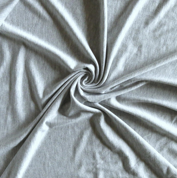 Heathered Grey Bamboo Lycra Jersey Knit Fabric