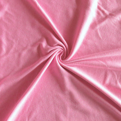 Heathered Pink Cotton Rib Knit Fabric