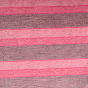 Shades of Heathered Pink and Grey Stripes Knit Fabric