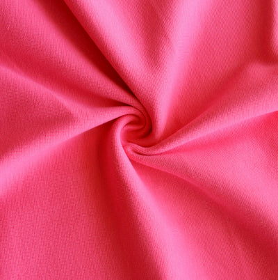 Bright Pink Cotton Heavy Rib Knit Fabric