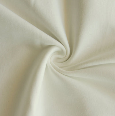 Creme Cotton Heavy Rib Knit Fabric