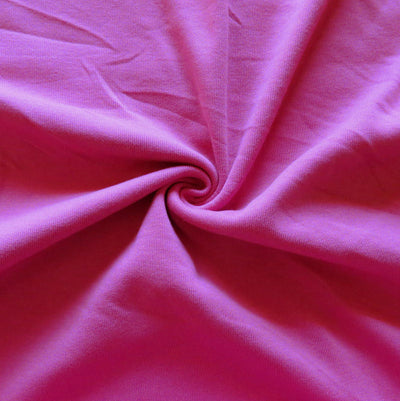 Dark Pink Cotton Heavy Rib Knit Fabric