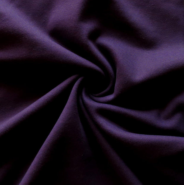 Dark Purple Cotton Heavy Rib Knit Fabric