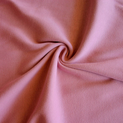Lavender Rose Cotton Heavy Rib Knit Fabric