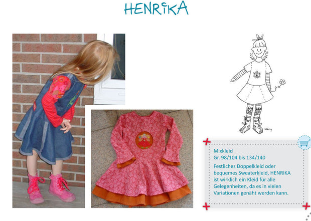 Henrika Dress Sewing Pattern by Farbenmix