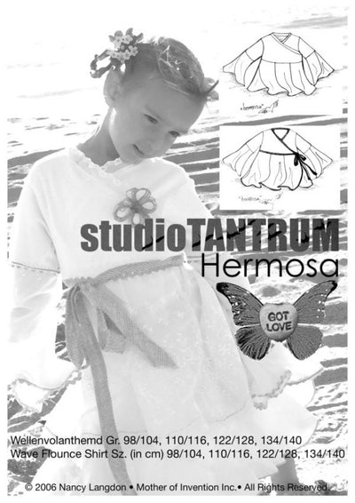 Hermosa Wave Shirt Sewing Pattern by StudioTANTRUM