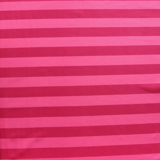 Hot Pink/Pink Stripe Nylon Lycra Swimsuit Fabric