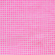 Hot Pink and White Gingham Cotton Knit Fabric