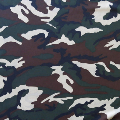 "Hunting Camo Microfiber Boardshort Fabric - 32"" Remnant"