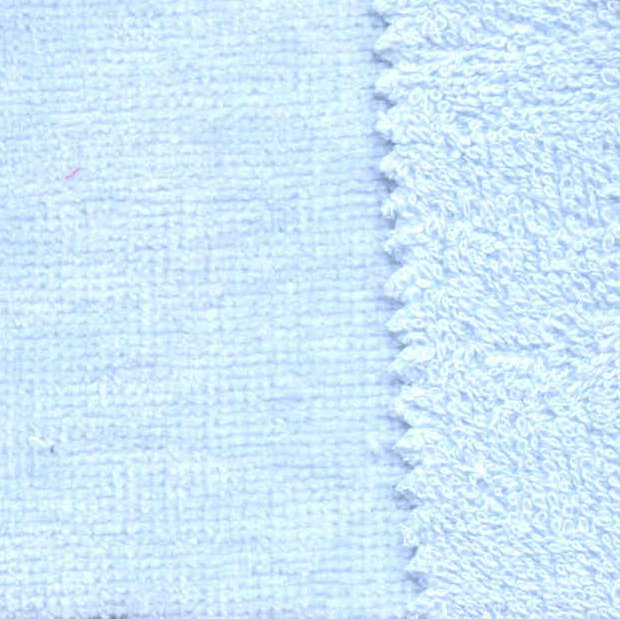 Iced Blue Cotton Woven Terry Velour Fabric - Seconds - Less Than Perfect
