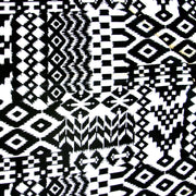 Ikat Aztec Cotton Lycra Knit Fabric