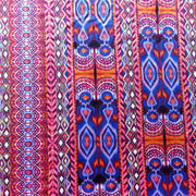 Colorful Vertical Ikat Stripe Nylon Spandex Swimsuit Fabric, Warm Colorway