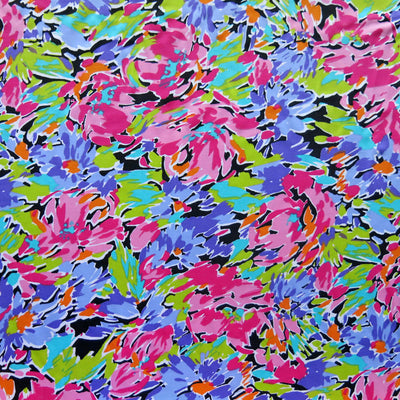 "Impressionism Nylon Spandex Swimsuit Fabric - 15"" Remnant"