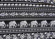 Indian Elephants Cotton Lycra Knit Fabric