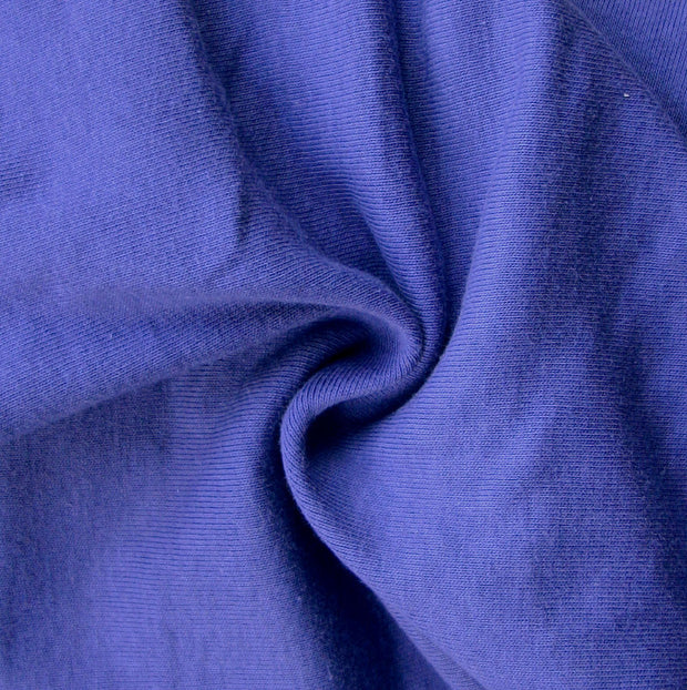 Indigo Cotton Rib Knit Fabric