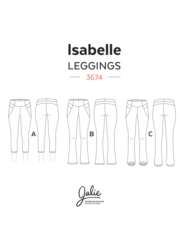 Isabelle Leggings and Skating Pants Sewing Pattern by Jalie