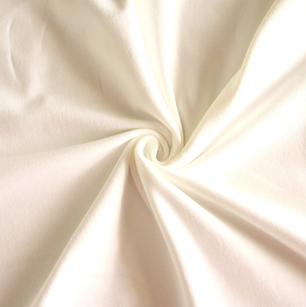 Ivory Cotton Lycra French Terry Fabric