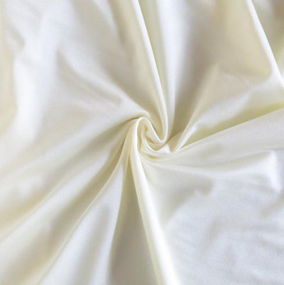 Ivory Solid Nylon Spandex Tricot Specialty Swimsuit Fabric