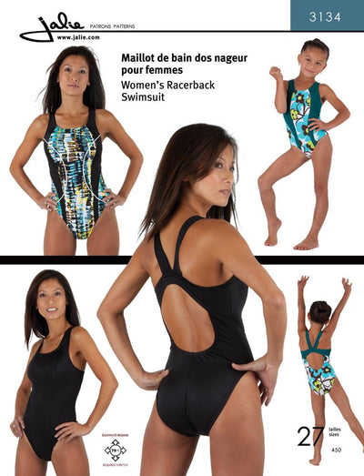 Women's and Girl's Racerback Swimsuit Sewing Pattern by Jalie