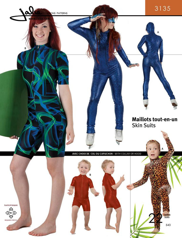 Skin Suits Sewing Pattern by Jalie