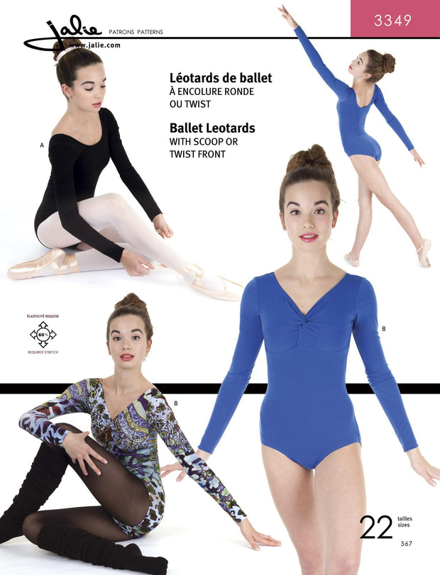 Ballet Leotards Sewing Pattern by Jalie