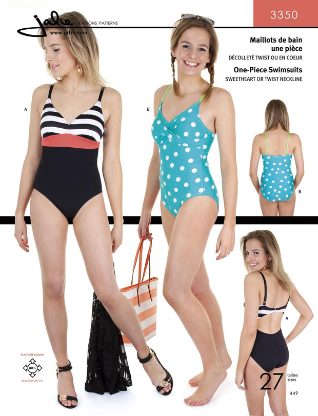One Piece Swimsuits Sewing Pattern by Jalie