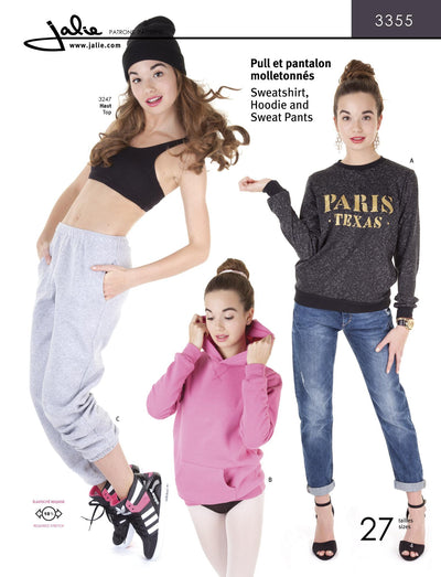 Sweatshirt. Hoodie, and Sweatpants Sewing Pattern by Jalie