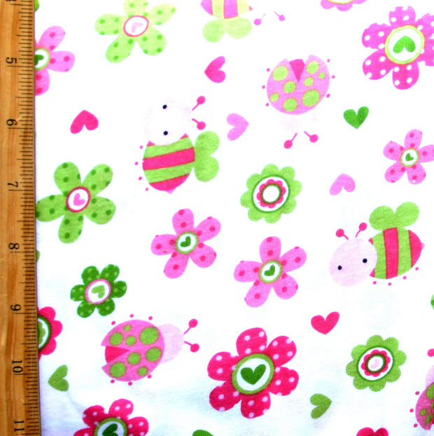 "Buggy Garden Cotton Knit Fabric - 32"" Remnant Piece"