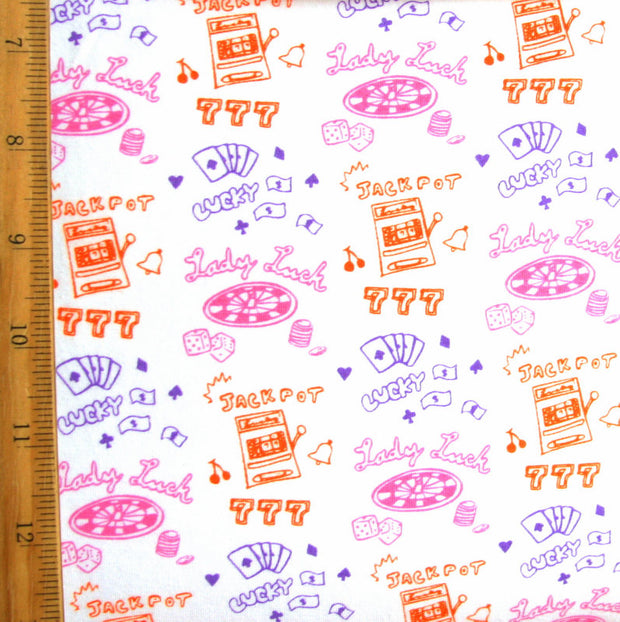 Lady Luck Cotton Lycra Knit Fabric