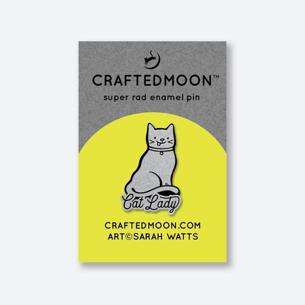 Cat Lady Enamel Pin by CraftedMoon