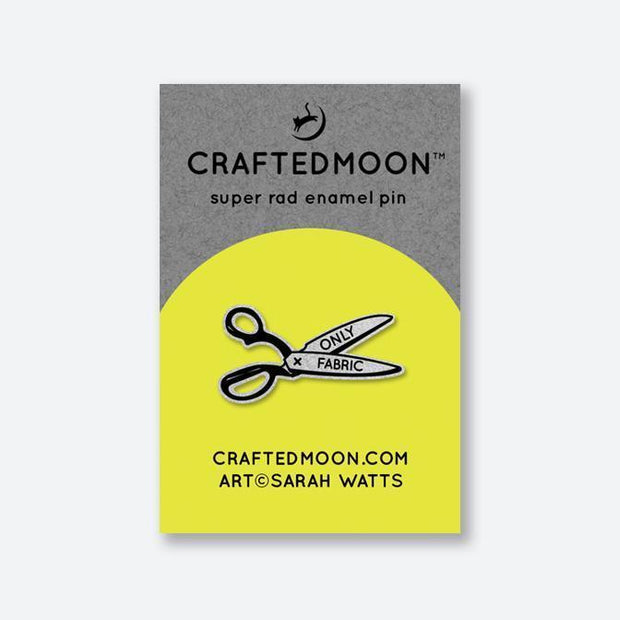 Only Fabric Scissors Pin by CraftedMoon